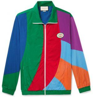 Gucci - Logo-Appliquéd Colour-Block Nylon Track Jacket - Men - Multi