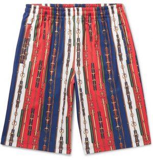 Gucci - Printed Tech-Jersey Shorts - Men - Multi