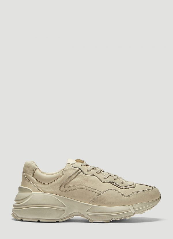 Gucci Rhyton Dirt Leather Sneakers in White size UK - 09