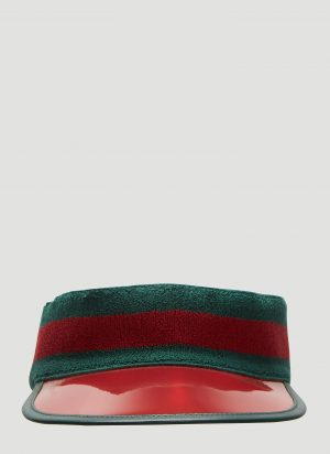Gucci Ribbed Knit Visor Hat in Green size L