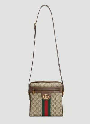 Gucci Small Ophidia Messenger Bag in Beige size One Size