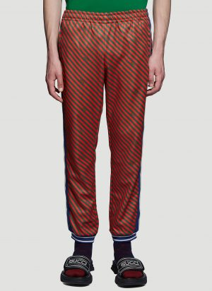 Gucci Striped Jogging Pants in Red size L