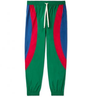 Gucci - Tapered Logo-Appliquéd Nylon Track Pants - Men - Multi