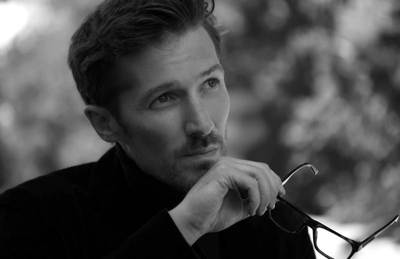 Welsh actor Gwilym Lee is captured behind the scenes for Tod's fall-winter 2019 campaign.