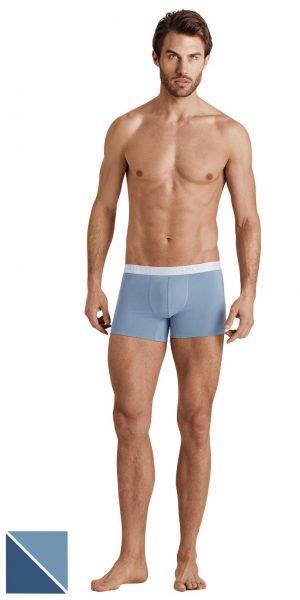 HANRO Cotton Essentials Boxer Briefs 2-Pack - Midnight/lake S - 73078