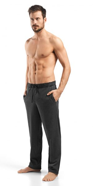 HANRO Night & Day Knit Lounge Pant - Enigma Melange M - 75435
