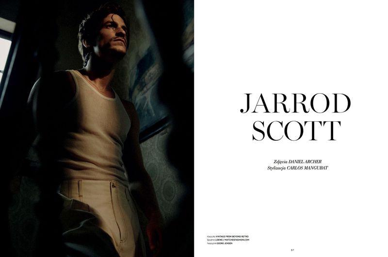 Jarrod Scott Retreats Indoors for L'Officiel Hommes Poland