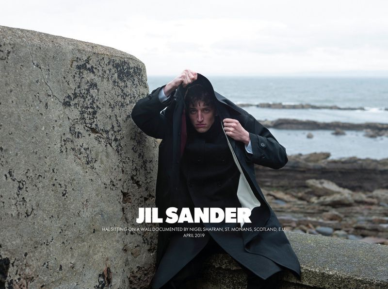 Hal Haines stars in Jil Sander's fall-winter 2019 men's campaign.