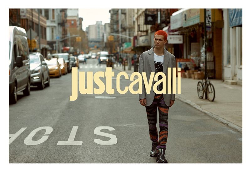 Taking to the streets of New York, Jacopo Olmo appears in Just Cavalli's fall-winter 2019 campaign.