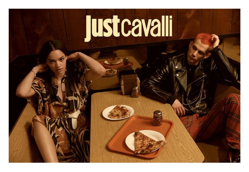Zenith Richards photographs Avril Marion and Jacopo Olmo for Just Cavalli's fall-winter 2019 campaign.
