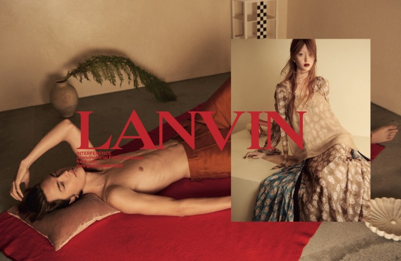 Freek Iven and Sara Grace Wallerstedt star in Lanvin's fall-winter 2019 campaign.