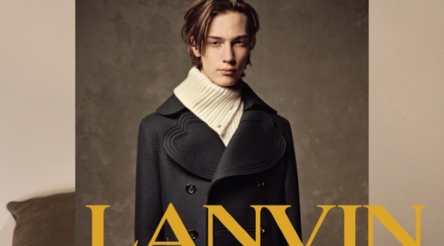 Model Freek Iven appears in Lanvin's fall-winter 2019 campaign.