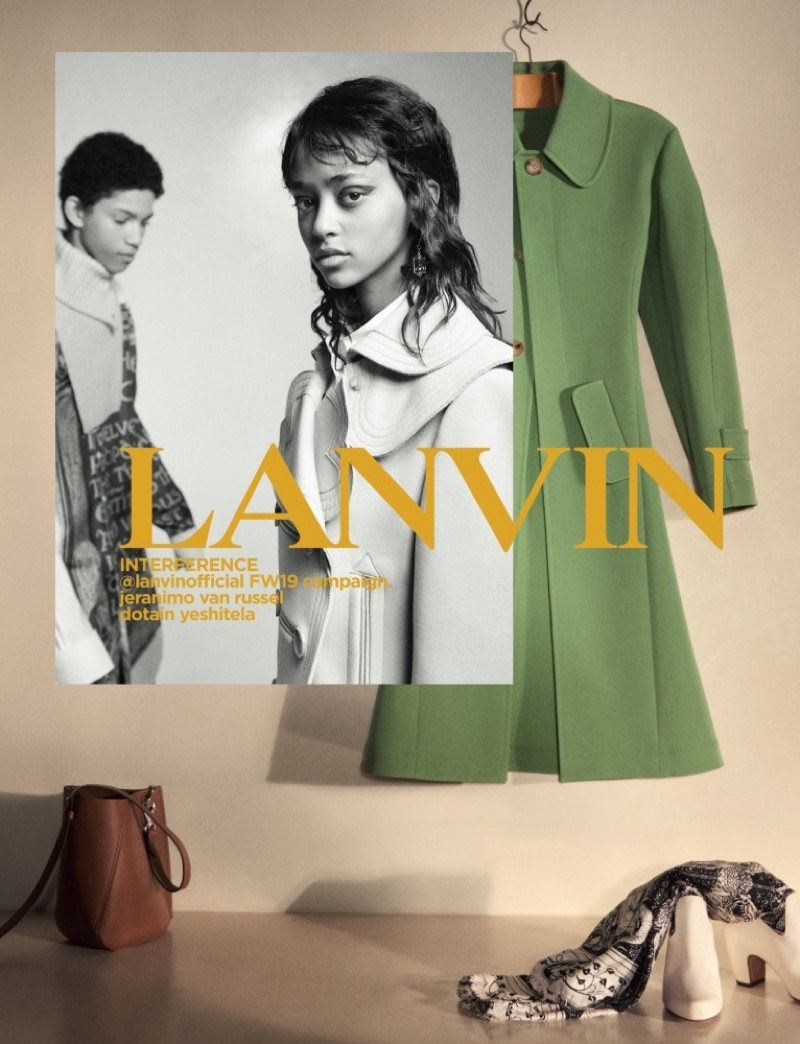 Jeranimo van Russel and Dotain Yeshitela come together for Lanvin's fall-winter 2019 campaign.