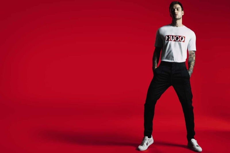 Taking to the studio, Liam Payne appears in a campaign for his HUGO capsule collection.