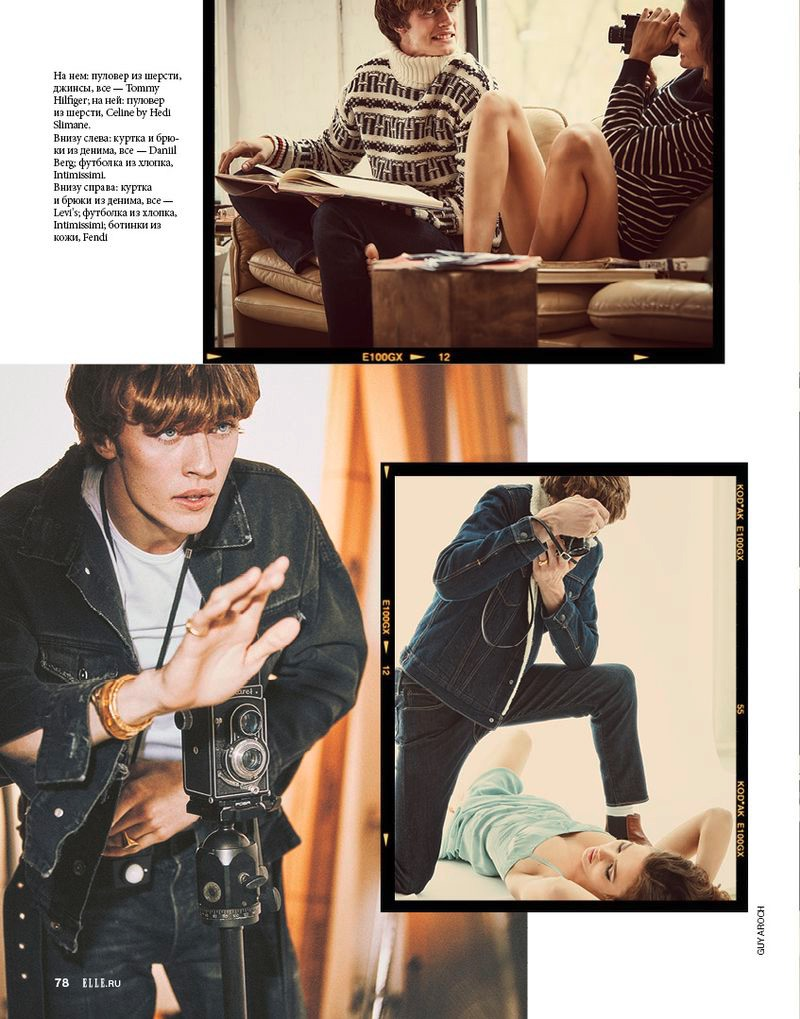 Lucky Blue Smith Plays Photographer for Elle Russia
