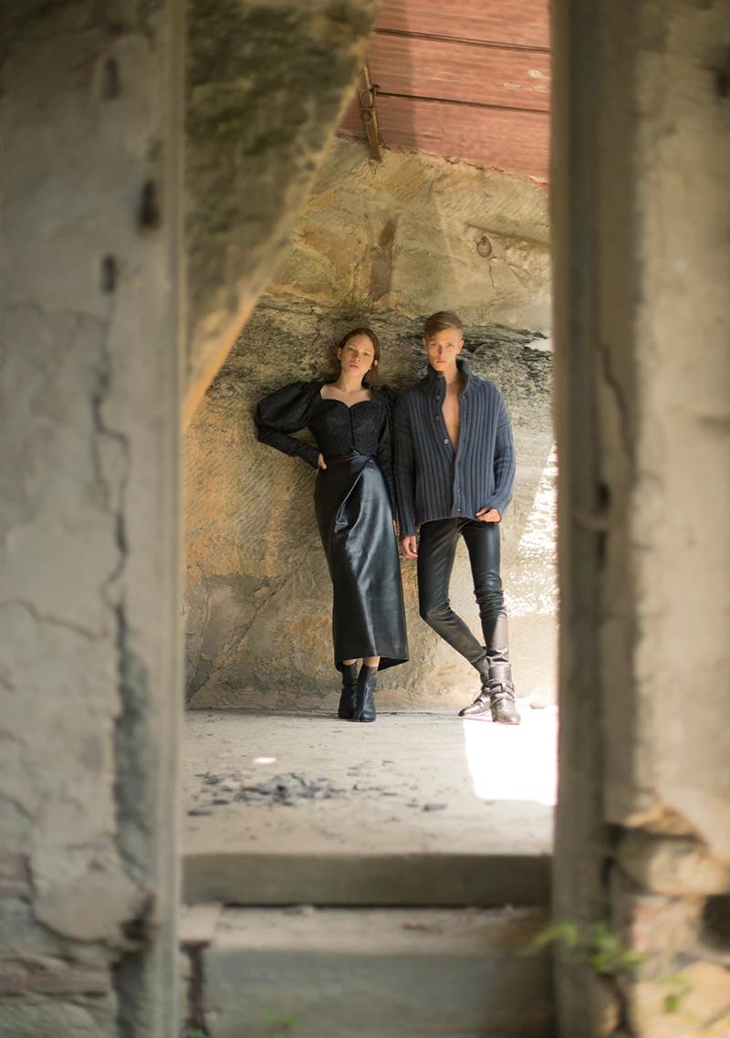 Prairie Noir: Davy Swart Embraces Dark Style for Luisaviaroma