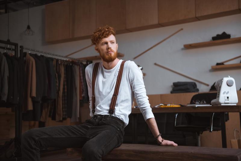 Male Designer Studio Redhead Bearded