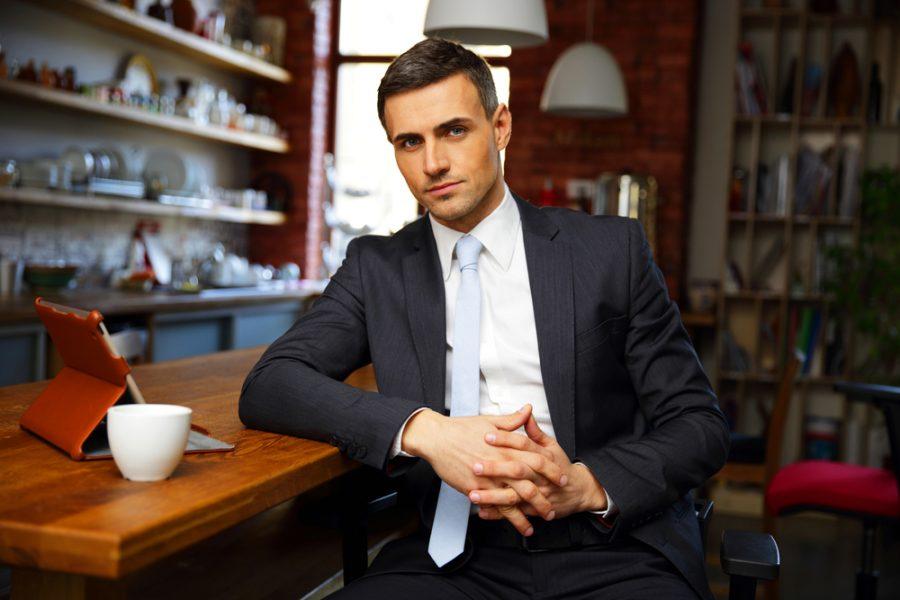 Male Model Businessman Suit