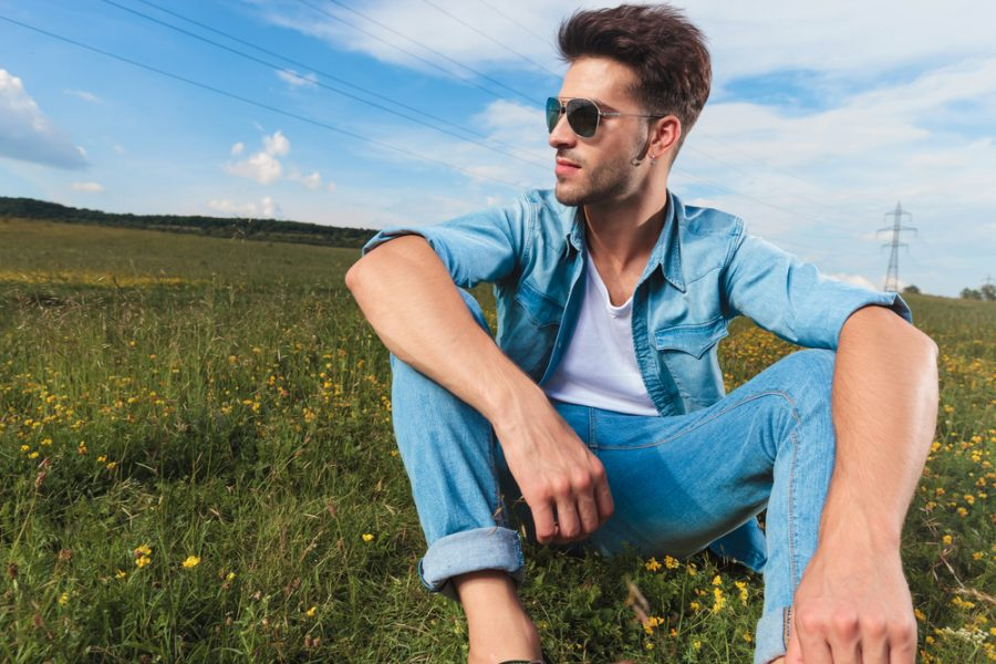 Male Model Casual Style