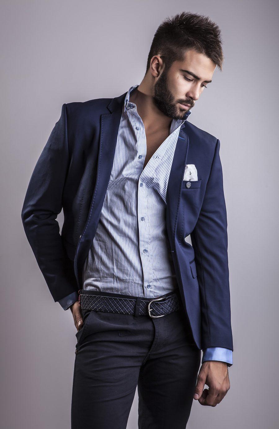 Male Model Mens Modern Suit Style