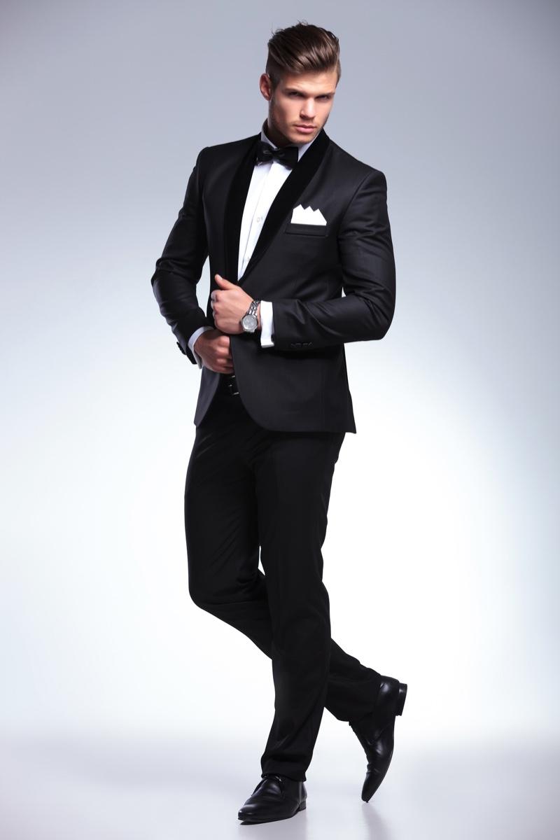 Male Model Suit Tuxedo Stylish Handsome
