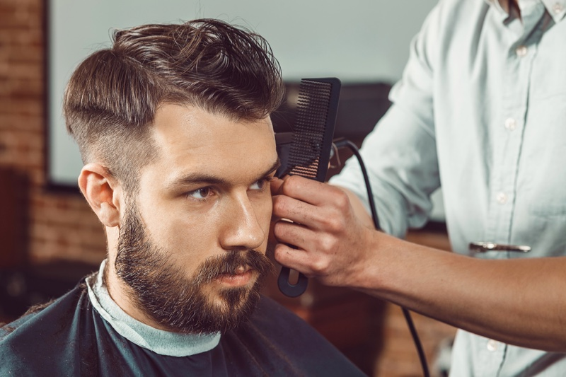 Man Barber Cool Hairstyle Beard Comb