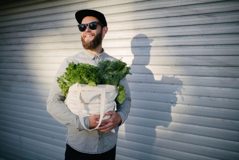 Man Eco Friendly Shopping Reusable Bag