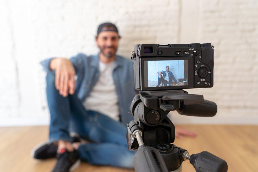 Man Filming Video
