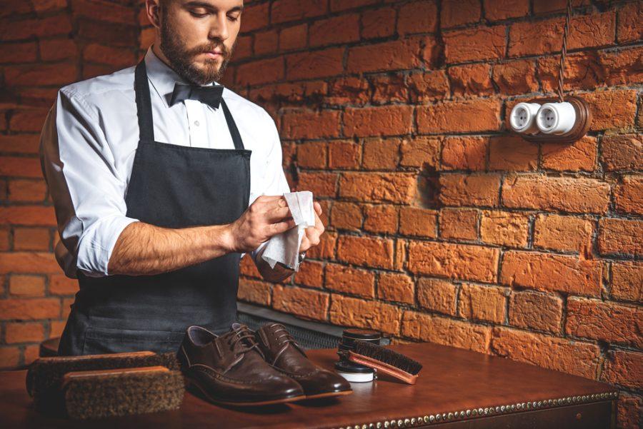 Man Shoe Shining