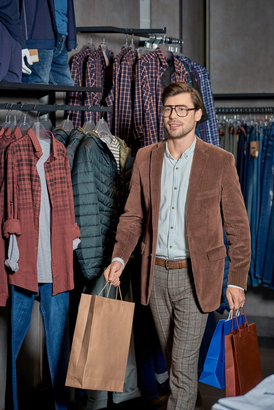 Man Shopping with Bags