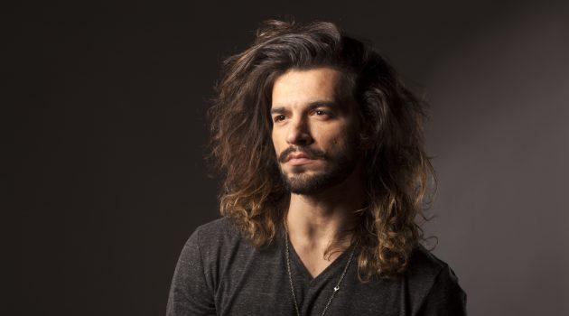 Man Stylish Long Hair Rocker