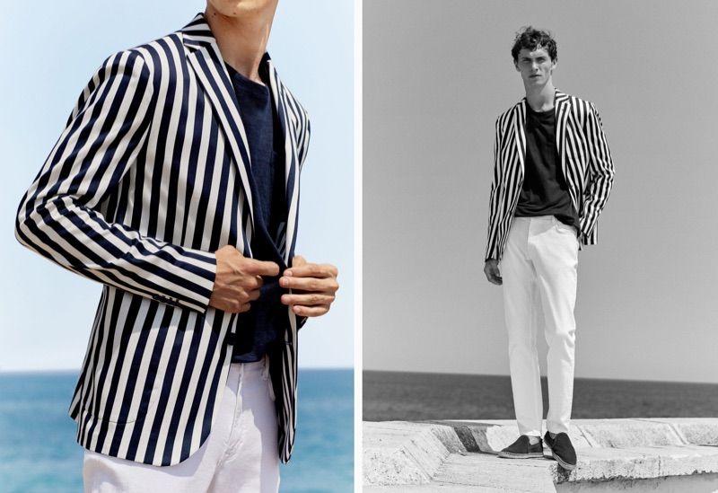 Mango enlists Luc Defont-Saviard to front its latest men's style outing for summer.