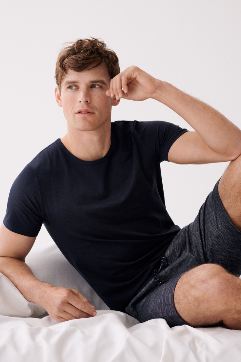 Retreating indoors, Guy Robinson fronts the Marc O'Polo Body & Beach campaign.