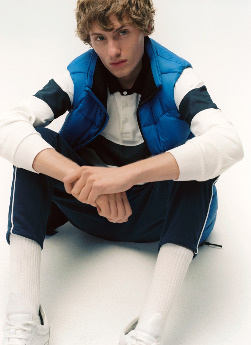 Lemmie van den Berg embraces sporty style from Marc O'Polo's fall-winter 2019 denim line.