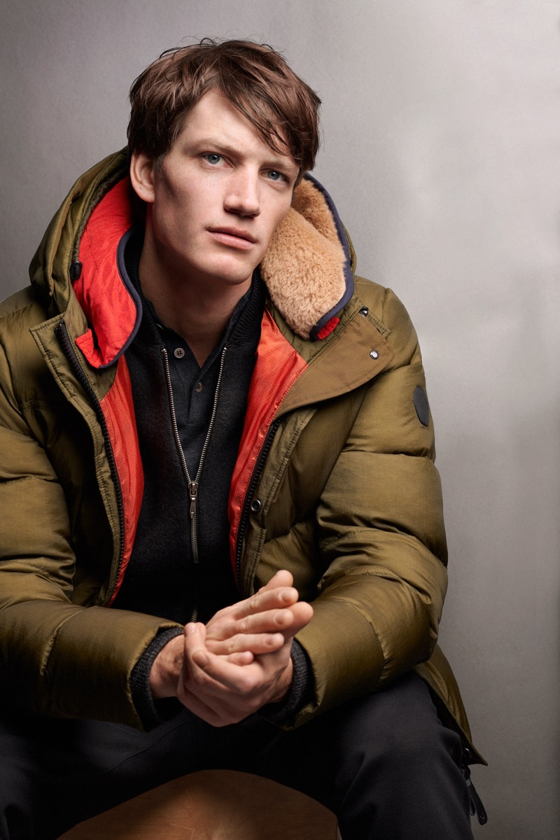 Ready for the cold, Florian Van Bael sports a puffer jacket by Marc O'Polo.