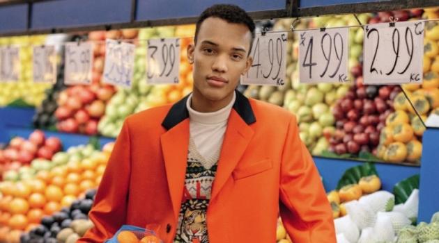 Masao Parris Dons Sleek Coats for GQ Australia