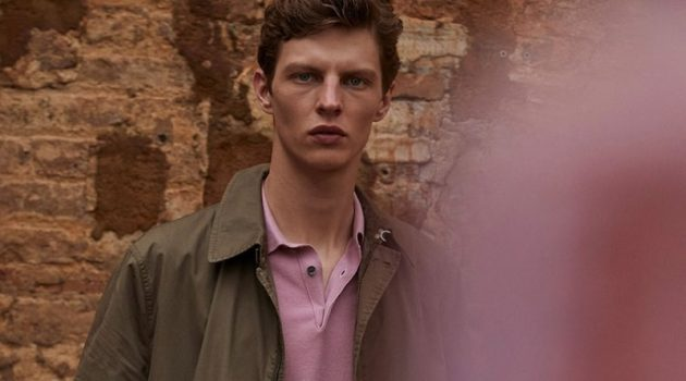 Transitional style is front and center as Tim Schuhmacher wears Massimo Dutti.