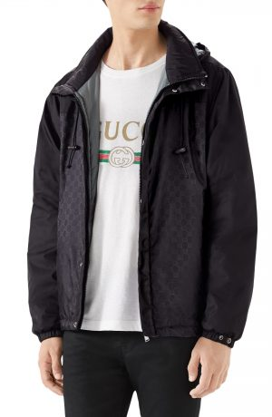 Men's Gucci Windbreaker, Size 46 EU - Black