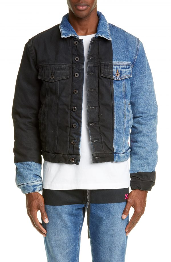 Men's Off-White Padded Denim Jacket