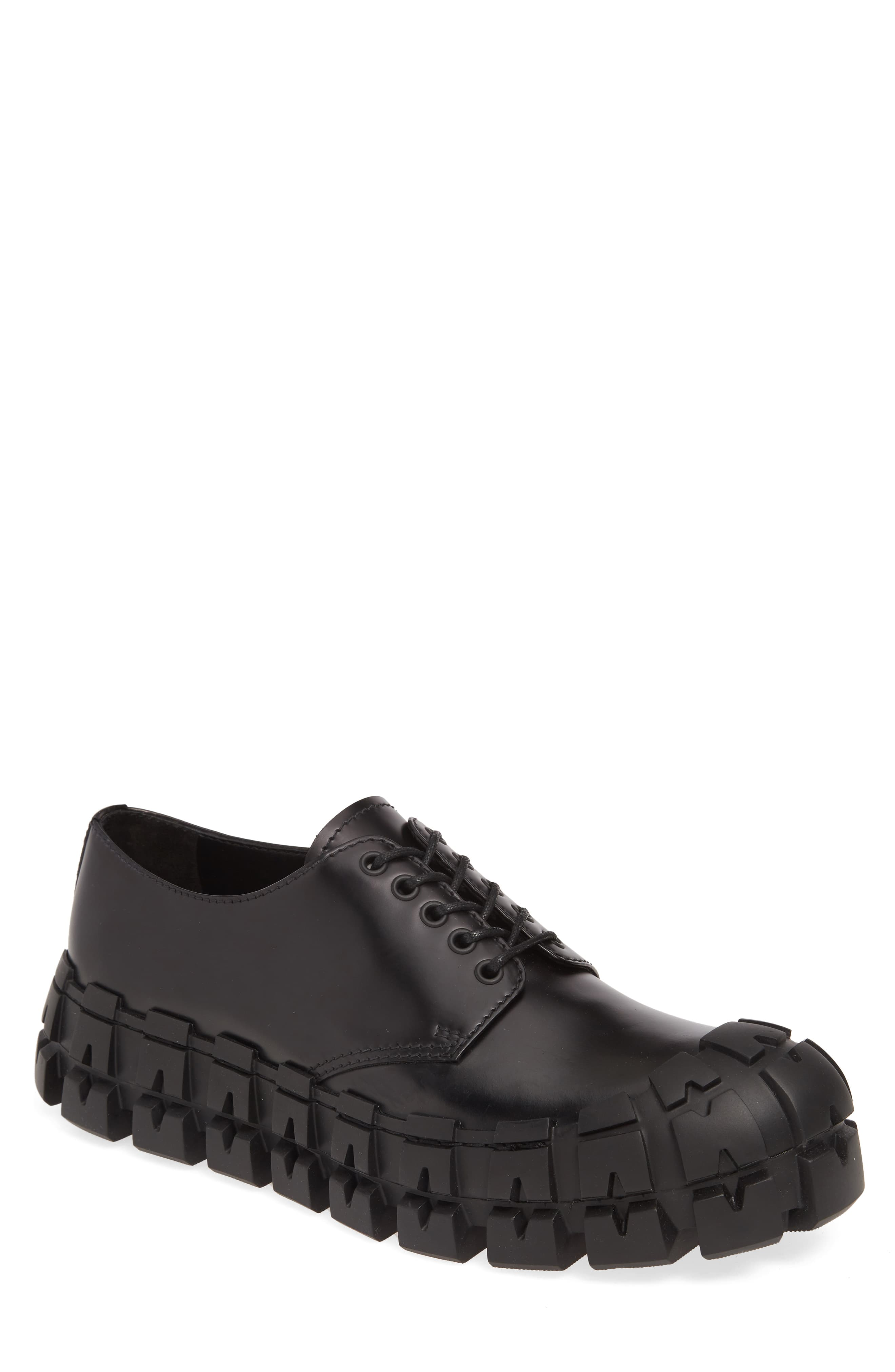 59f9d76a Men's Prada Lug Sole Derby, Size 8US / 7UK - Black