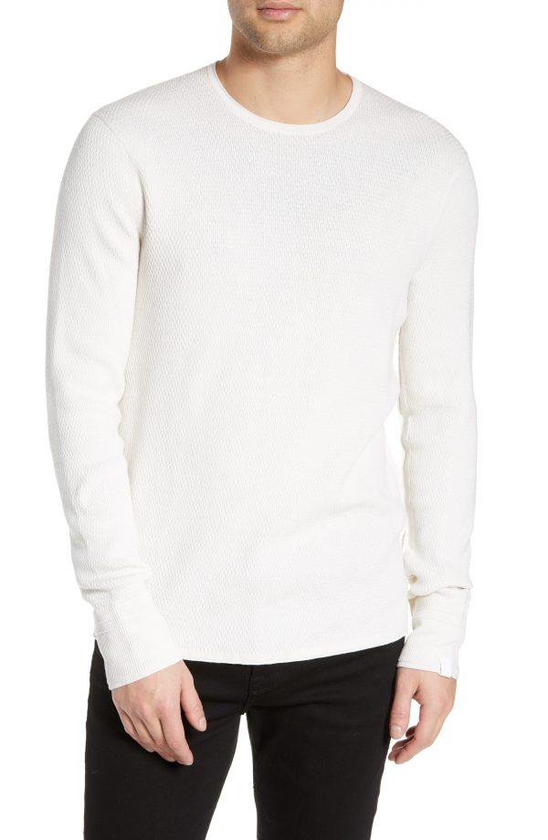 Men's Rag & Bone Davis Slim Fit Crewneck Sweater, Size XX-Large - Ivory