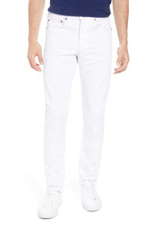 Men's Rag & Bone Fit 2 Slim Fit Jeans, Size 38 - White