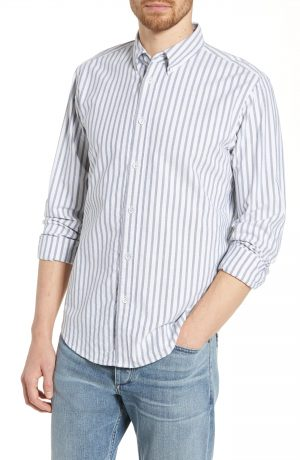 Men's Rag & Bone Fit 2 Tomlin Slim Fit Oxford Sport Shirt, Size XX-Large - Blue