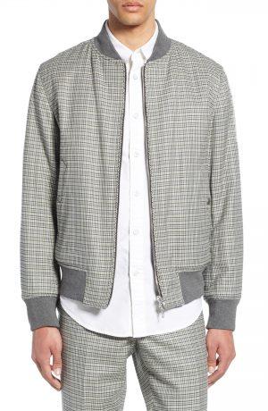 Men's Rag & Bone Manston Reversible Cotton & Wool Bomber Jacket, Size Large - Black