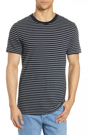 Men's Rag & Bone Railroad Slim Fit Stripe T-Shirt, Size Large - Blue
