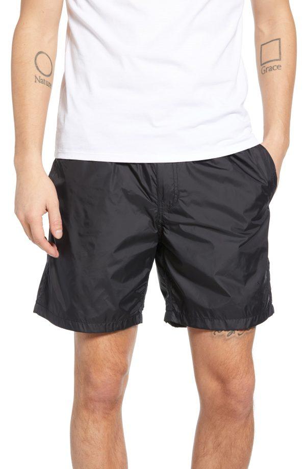 Men's Saturdays Nyc Trent Hybrid Athletic Shorts, Size Large - Black