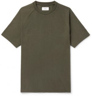 Mr P. - Cotton-Jersey T-Shirt - Men - Army green