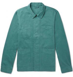 Mr P. - Garment-Dyed Cotton-Twill Jacket - Men - Green