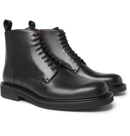 Mr P. - Jacques Leather Derby Boots - Men - Black
