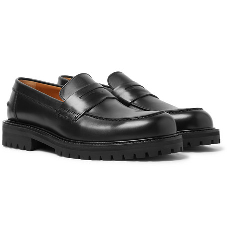 Mr P. - Jacques Leather Penny Loafers - Men - Black